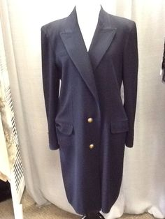 Valentino Bergdorf Goodman Women's Navy Blue Coat Sz M/L VINTAGE VALENTINO by GUAAPA on Etsy