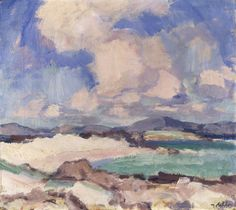 Clouds and Sky, Iona, - Samuel John Peploe (Scottish, Landscape Art, Landscape Paintings, French Paintings, Museum Art Gallery, Colorful Artwork, Impressionist Paintings, Fashion Painting, Gouache Painting, Painting Inspiration