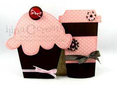 Cute cupcake and coffee cards