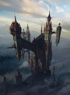 Castlevania Background by artofjosevega on DeviantArt Dracula Castlevania, Castlevania Anime, Castlevania Netflix, Castlevania Games, Dark Fantasy, Fantasy Concept Art, Fantasy World, Fantasy Artwork, Landscape Concept