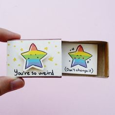 Adorable Love card /Cute Friendship Card/ Unique Self-love gift/ Be yourself Card/ You're so weird, don't change it/ - Metarnews Sites Birthday Gifts For Best Friend, Diy Gifts For Friends, Diy Birthday, Birthday Cards, Cute Boyfriend Gifts, Matchbox Crafts, Funny Love Cards, Little Presents, Anniversary Funny