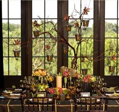 How To Create Festive Thanksgiving Decor + A Thanksgiving Tree! « The Daily Design by Koyal Wholesale Thanksgiving Tree, Thanksgiving Wedding, Thanksgiving Celebration, Thanksgiving Centerpieces, Fall Table, Halloween, Table Decorations, Centerpiece Ideas, Branch Centerpieces