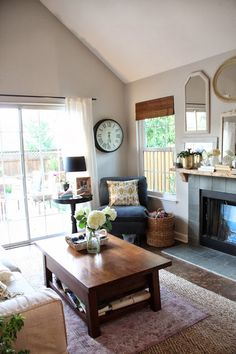 pros: overall look cons: all the mirrors above the fireplace, the fireplace tiles are not my style.