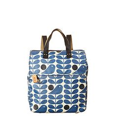 Early Bird Print Backpack Prussian Blue