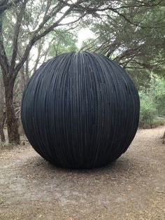 b-lueeyes: A sculpture made out of recycled rubber tires