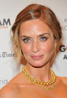 and her hair! emily blunt looks uh-mazeballs. (from because i'm fabulous' coverage of the gotham indy film awards 2012)