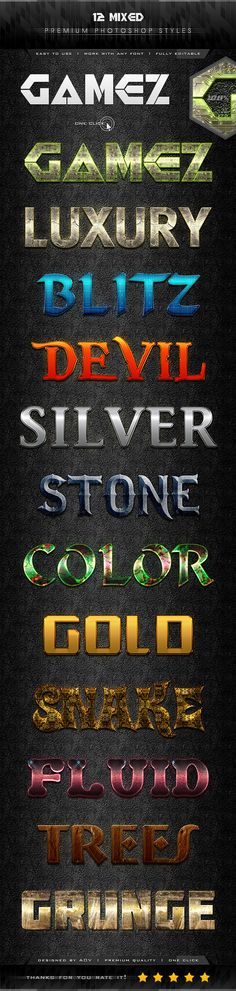 12 Mixed Text Effect Styles - Text Effects Styles
