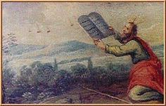 The above is a painting on wood drawer from furniture kept at the Earls D'Oltremond, Belgium. Moses is receiving the tablets and several objects in the sky are seen near by. Date and artist unknown. This supports the claims of many that many biblical events, can be further explained when ufos and aliens are taken into consideration, higher forms of technology could explain some of the events such as writing on stone with fire, parting the red sea, etc... higher forms of technology might expl...