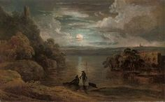 Michael Wutky (1739-1822)_The Moonlit River Landscape with Anglers