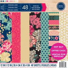 """12/""""x12/"""" 48 Sheets CRAFT SMITH CHRISTMASVILLE/' Paper Pad"""