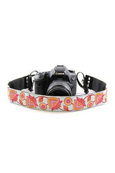 CASLR20-DFAQ Deer Flower Aqua 2In Camera Strap
