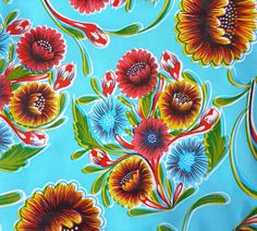 "Mexican ""oilcloth"" tablecloths"