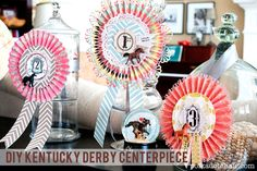 Kentucky Derby centerpieces.