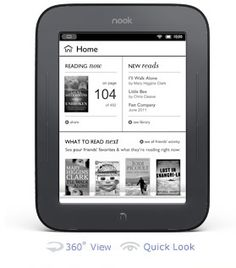 I had pre-ordered my nook touch e-reader, and it has been my best friend. B&N offers Free Fridays, and the ultra-light, thin e-reader makes it possible to carry MANY books when I travel.