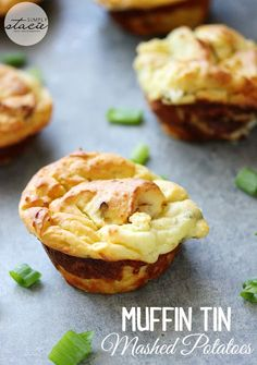 Pat's Potato Puffs Muffin Tin Mashed Potatoes - a simple and tasty way to use up leftover mashed potatoes! Thanksgiving Recipes, Holiday Recipes, Great Recipes, Favorite Recipes, Thanksgiving Leftovers, Recipe Ideas, Mashed Potato Recipes, Potato Dishes, Mashed Potatoes