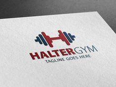 Halter Gym Logo by Creative Dezing on @creativemarket