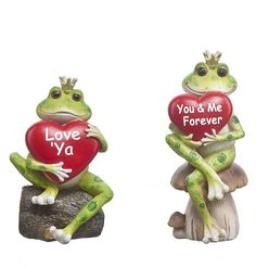 Let this whimsical Frog Prince figurine say it all to the one ya' love.