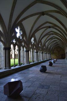 , Cloister, Salisbury Cathedral, Salisbury, England