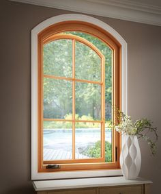 If you like the idea of using wood in your home, but, have trouble envisioning how it could fit into the design or theme of your home, we have an article just for you! Featuring Essence Series wood window radius casement by Milgard Windows and Doors Casement Windows, Arched Windows, Windows And Doors, Woodworking Outdoor Furniture, Woodworking Tools, Fiberglass Windows, Interior And Exterior, Interior Design, Double Hung Windows