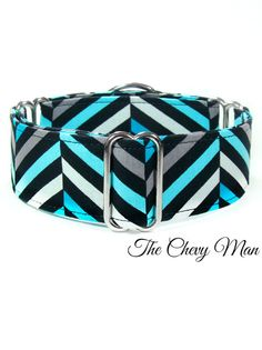 Chevron Martingale Dog Collar 1.5 inch martingale 2 by CollarTown, $18.00