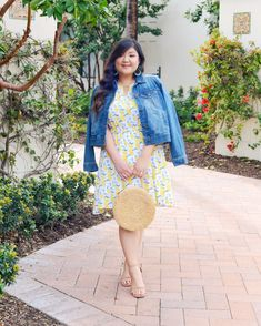 Love this summery lemon-print look from Stitch Fix! Lemon Print Dress, What I Wore, Cuba, Stitch Fix, Plus Size Fashion, Preppy, Wanderlust, Fashion Looks, Denim