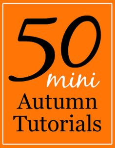 50 Miniature Halloween and Fall Tutorials | true2scale