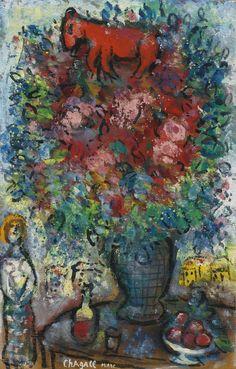Marc Chagall   Le boquet et l'ane rouge 1962   Sotheby's