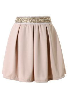 Sequins Pearl Waistband Skater Skirt - Bottoms - Retro, Indie and Unique Fashion