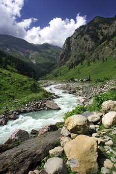 Neelum Valley, Pakistan. Neelum Valley is a 200 km long bow-shaped deeply forested region in Azad Kashmir. (V)