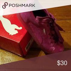 Purple suade classic puma sneaker Purple suade toddler puma sneakers Puma Shoes Sneakers