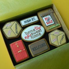 New Home Box - Medium New Home greetings cookies : Campervan Cookies, Delicious handmade and bespoke cookies