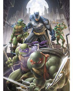 Batman Comic Art, Batman Comics, Batman And Superman, Teenage Ninja Turtles, Ninja Turtles Art, Geeks, Arte Dc Comics, Anime Art, Crossover