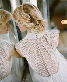 style | dramatic back of the ortensia gown by catherine deane for BHLDN | via: the knot