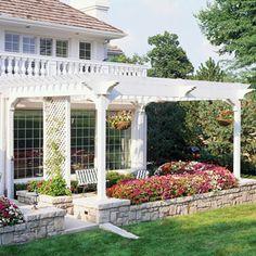 Backyard beautification...
