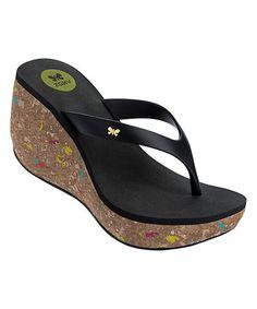 This Black Fun II Wedge Sandal is perfect! #zulilyfinds