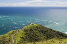 Cape Reinga - on the northern most tip of New Zealand where the Pacific Ocean collide with the Tasman Sea