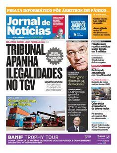 Capa da edição do dia 22 de março de 2012