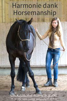 """Horsemanship: gut für Mensch und Pferd. Mehr dazu in meinem Buch """"Natural Horsemanship - aus Fairness zum Pferd"""""""