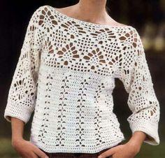 Fabulous Crochet a Little Black Crochet Dress Ideas. Georgeous Crochet a Little Black Crochet Dress Ideas. Débardeurs Au Crochet, Pull Crochet, Mode Crochet, Crochet Jacket, Crochet Cardigan, Filet Crochet, Easy Crochet, Crochet Stitches, Crochet Tops