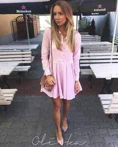WEBSTA @ olivka_blog - Jak mi?o, ?e lato wr�ci?o, p?dze na kawk?, a Wy ju? po? #ootd #look #lookoftheday #outfit #dress #pink Sukienka @sugarfree ??