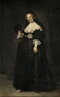 Portret van top tot teen: Portret van Oopjen Coppit, Rembrandt Harmensz. van Rijn, 1634