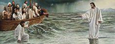 Petrus kijkt naar de omstandigheden en zakt weg in het water; houd je blik altijd gericht op Jezus