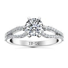 #Valentines #AdoreWe #FrostNYC - #imaginediamonds Round Diamond Pave Engagement Ring Tres Jolie 14K White Gold - AdoreWe.com