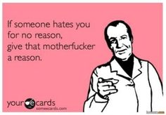 Reason to hate...