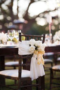 Wedding reception chair decor ideas