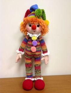 image - Мои игрушки - Галерея - Форум почитателей амигуруми (вязаной игрушки) Amigurumi Toys, Crochet Patterns Amigurumi, Crochet Dolls, Knitting Patterns, Crochet Teddy, Crochet Baby, Knit Crochet, Cute Clown, Homemade Toys