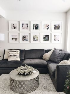 Awesome Attractive Living Room Wall Decor Ideas To Copy Asap. room wall decor over couch Attractive Living Room Wall Decor Ideas To Copy Asap Home And Living, Room Design, Gallery Wall Living Room, Home Living Room, Wall Decor Living Room, Couches Living Room, Trendy Living Rooms, Family Room, Home Decor