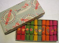 Christmas crackers by the vintage cottage 1950s Christmas, Christmas Past, Vintage Christmas, Xmas, Christmas Stuff, Cozy Christmas, Father Christmas, Christmas Images, Beautiful Christmas