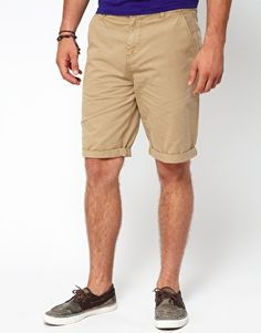 Image 1 ofASOS Chino Shorts In Longer Length Jim Shorts $30 on sale