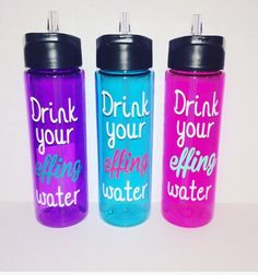 A personal favorite from my Etsy shop https://www.etsy.com/listing/292678861/drink-your-effing-water-drink-your